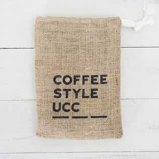 COFFEE STYLE UCC ロゴ入り麻バッグ